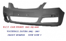 VAUXHALL  ZAFIRA B   MK 2  FRONT BUMPER   2005 - 2006 - 2007    NEW   ( READY TO PAINT IN PRIMER  )